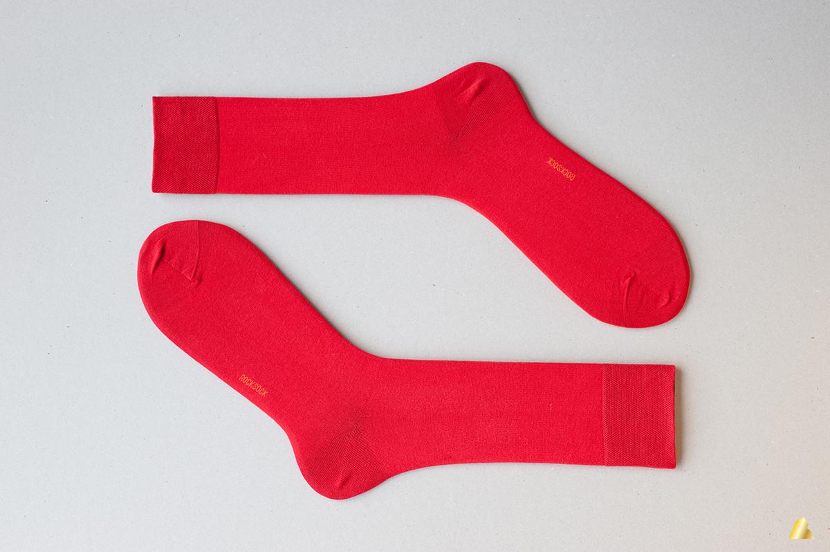 Rocksock mens socks bright red