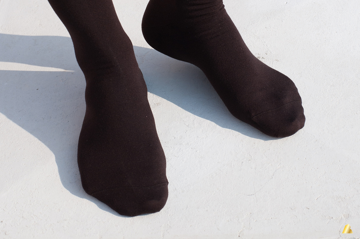 Rocksock micromodal mens socks chocolate