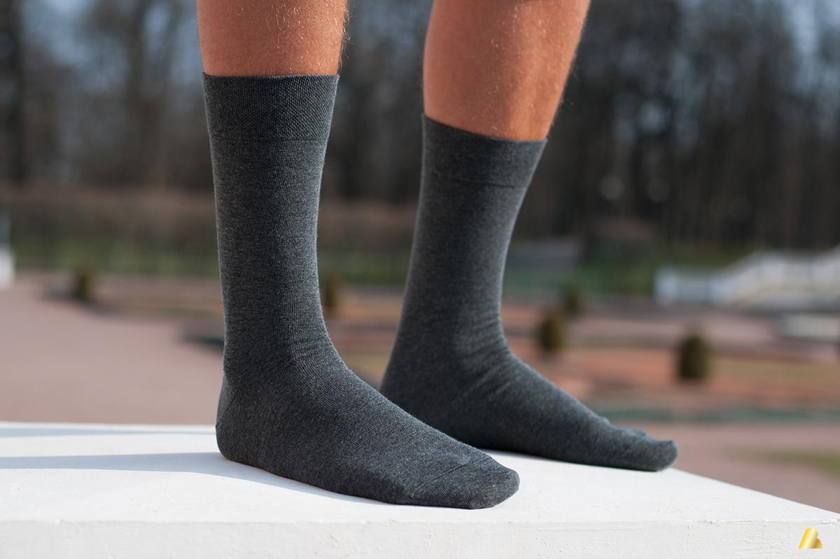 Rocksock combed cotton mens socks anthracite melange