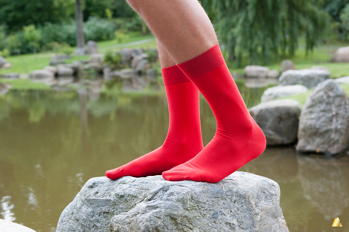 Rocksock mens casual red socks