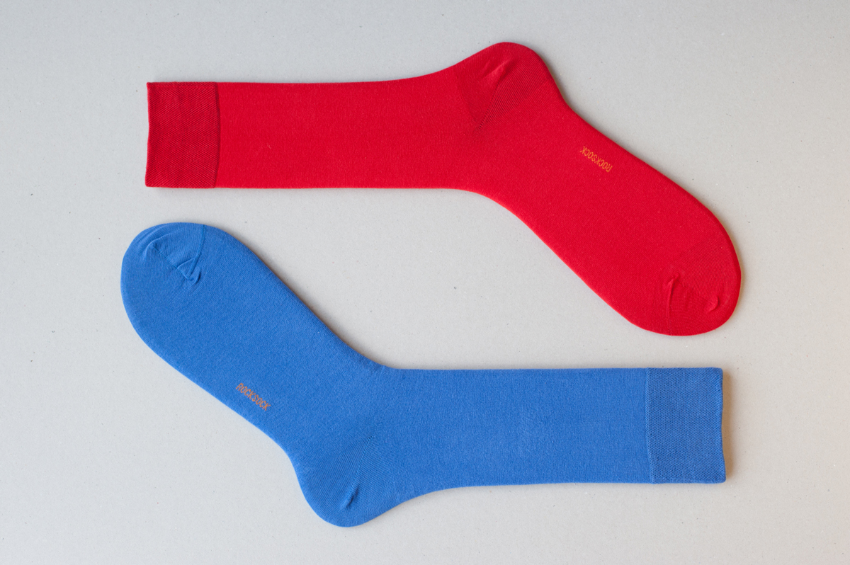 Rocksock casual mens socks blue red