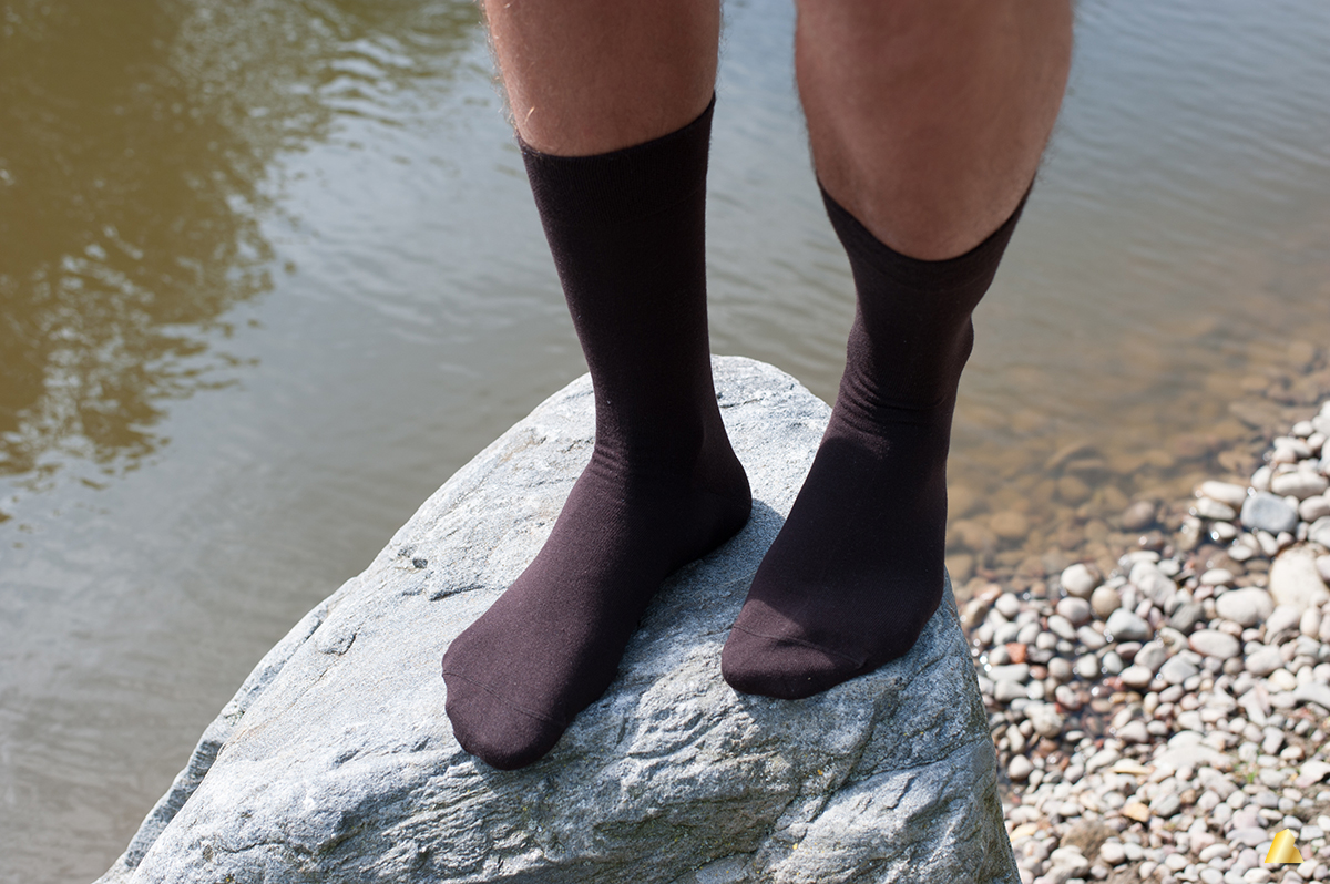 Rocksock mens casual socks chocolate color