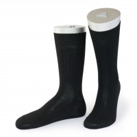 Rocksock classic rib merino wool socks montecostone black