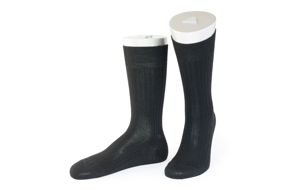 Rocksock classic merino wool socks montecostone black rib