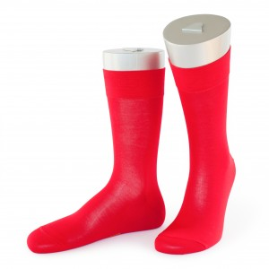 Rocksock casual socks mercerised cotton marmolada red