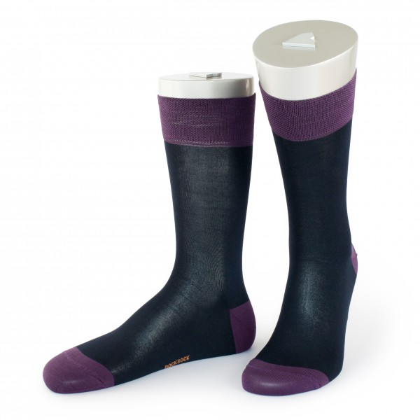 Rocksock casual mercerised cotton socks paradiso blue purple
