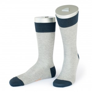 Rocksock casual socks mercerised cotton paradiso grey melange