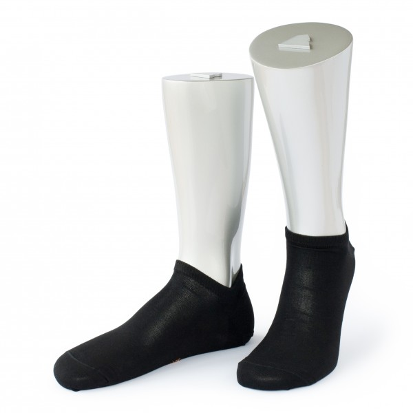 Rocksock casual sneaker socks mercerised cotton venezia black