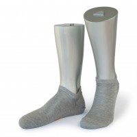 Rocksock casual mens socks mercerized cotton grey melange