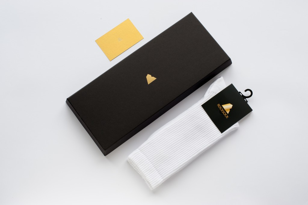 Rocksock athletic socks in gift packing