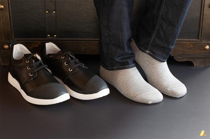 Rocksock light grey melange sneaker socks