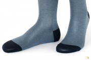 Rocksock casual socks mercerised cotton paradiso blue melange
