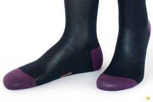 Rocksock casual mercerised cotton socks paradiso blue purple